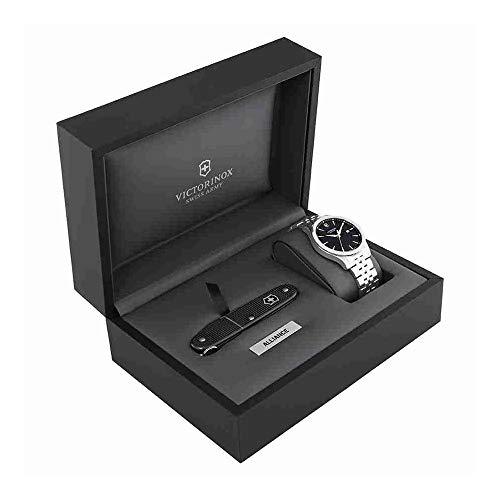 Victorinox Swiss Army 241801.1 Alliance - Reloj para hombre (esfera de 40 mm), color plateado y negro
