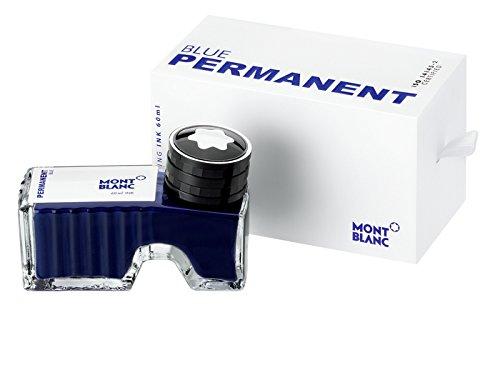Montblanc Tintenfass Permanent Blue 107756 - Hochwertige Tinte Blau im Tintenglas - Blaue Tinte dokumentenecht im Tintenglas 60ml
