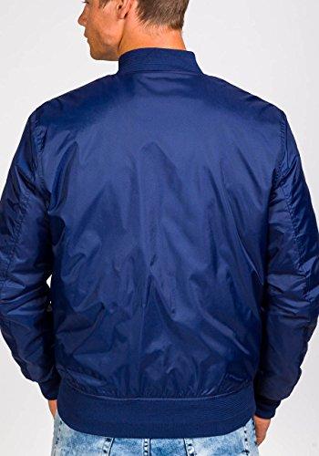 BOLF Herrenjacke Übergangsjacke ohne Kapuze MIX Blau_169A
