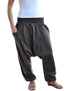 virblatt tinta-unita taglia unica pantaloni alla turca con cavallo basso Unisex S-L pantaloni cavallo basso uomo...