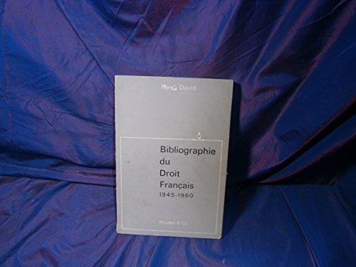 Bibliographie du droit français, 1945-1960 por René David