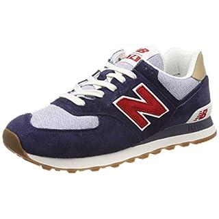 New Balance Herren ML574P Sneaker, Blau (Navy/Red Navy/Red), 43 EU