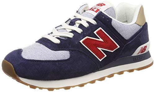 New Balance Herren ML574P Sneaker, Blau (Navy/Red Navy/Red), 43 EU New Navy Schuhe