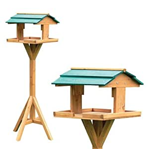Good Ideas Wooden Bird Table - Traditional, birdtable to watch / feed the birds safe from predators.