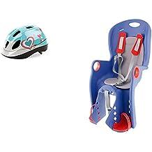 Silleta Silla Sillita para Transporte en Bicicleta de Niño Niña y Bebe 6m a 5 años + Casco Antimosquitos 3527 3503