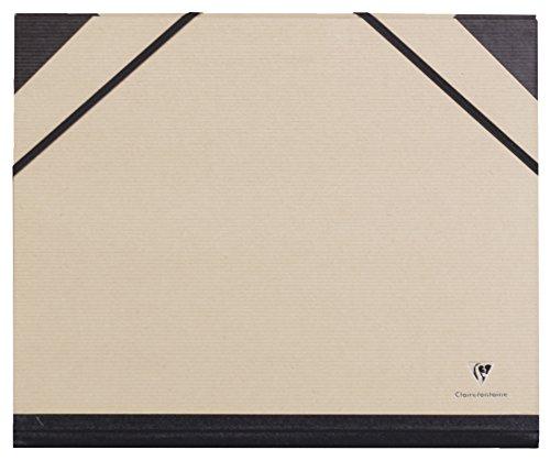 Clairefontaine 44000C Zeichenmappe Kraft mit Gummizug ohne Innenklappe Clairefontaine, DIN A4+...