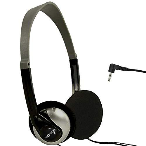 TronicXL Fernseh Kopfhörer 6m langes Kabel Kopfbügel kompatibel mit für Fernseher Samsung LG Sony Toshiba DYON JVC Philips Apple iPad iMac Computer etc Stereokopfhörer Headphones Klinkenstecker