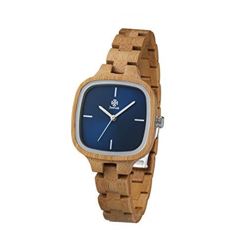 Tiempo Reloj de madera madera Roß Vino de bambú...