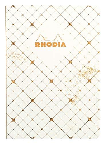 Rhodia 117164C Heritage Notizheft  (mit Fadenbindung, kariert, 80 Blatt, limitierte Edition, elegant und praktisch, DIN A5, 14,8 x 21 cm, mit Karo Effekte) 1 Stück, elfenbein -