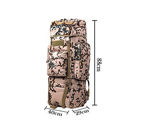zaino trekking 110L uomini e donne spalle di grande capienza posteriore esterna escursionismo zaino Bagagli Borse Zaini da escursionismo ( Colore : 7 , dimensioni : 110L-40*29*88CM ) 1