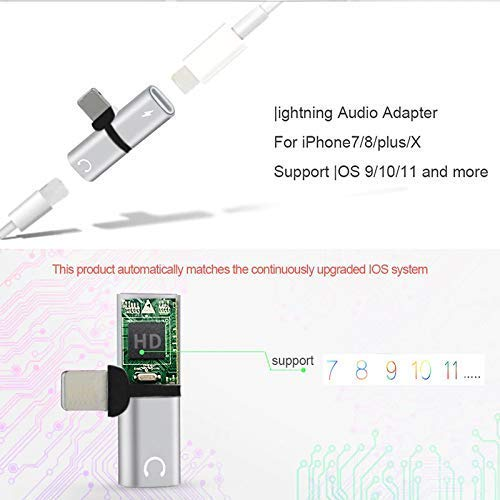 [Get Discount ] Shopfic 2 in 1 Splitter 8 Pin to Dual 8 Pin Phone Charger Converter Compatible for iPhone 7 8 Plus X Charging Cable Adapter Mini Earphone Converter 41k2 2BbPwLxL