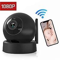 IP Camera - Home Security Camera, Wireless Dome Camera 1080P Surveillance System Remote Monitoring for Baby/Elder/Pet/Nanny Monitor, Pan/Tilt, Two-Way Audio & Night Vision- Black - Güvenlik Kamerası