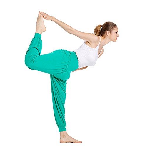 VENI MASEE® ON SALES Frauen weichen, elastischen Bund fitness yoga Herem Hosen, Farben Grün