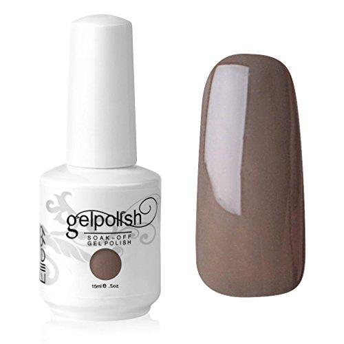 Elite99 Gelish UV LED Gel auflösbarer Nagellack Nagelgel Gellack braun Braun-nude 15ml (1 x 15 ml)