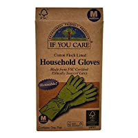 If You Care Household Gloves Latex Cotton Flock Lined Medium -- 1 Pair