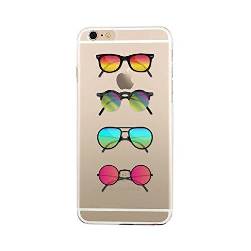 BBC Halbstarre Schutzhülle für iPhone 6/6S Motiv Sonnenbrille Transparent