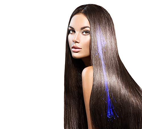 25 Blau Farbig Leuchten Fiber Optic Hair Clip LED-Erweiterungen Perfekte Party-Packs Mädchen-Frauen-Sets Blinkendes Geflecht Haarspangen Trimmbar Parteien Bevorzugt Geschenktüten Events