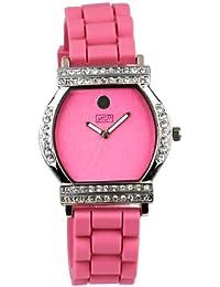 Women'Eton Damen-Armbanduhr Analog Silikon 2999J-PK Gurt