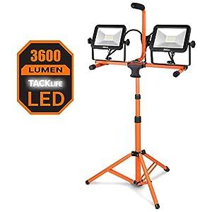 Foco Colector LED, 3600 LM, Trípode de 40W, 5000K de Temperatura de Color, Lámpara Impermeable, Cable de 5m, Tacklife/LWL3A
