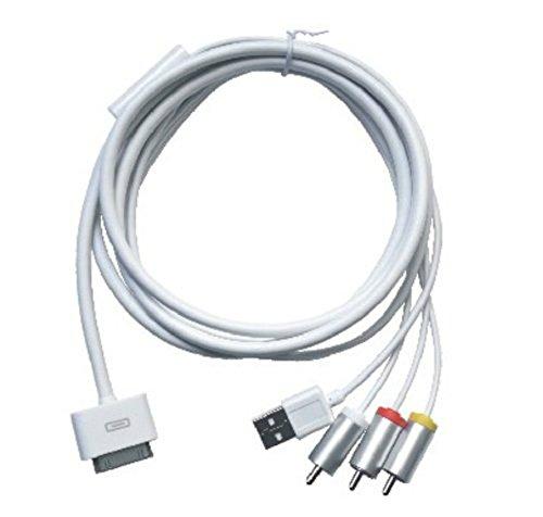 erät Kabel AV TV RCA Audio Video Composite Kabel für Apple iPhone 44G 4S iPad 2iPad3iPod–Weiß (Iphone 4s-tv-adapter-kabel)