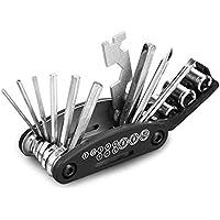 Honghopak Bicycle Repair Tool Folding Hex Spoke Wrench Mountain Cycle Screw Drive Set Kits Multifunctional Portable Riding Equipment