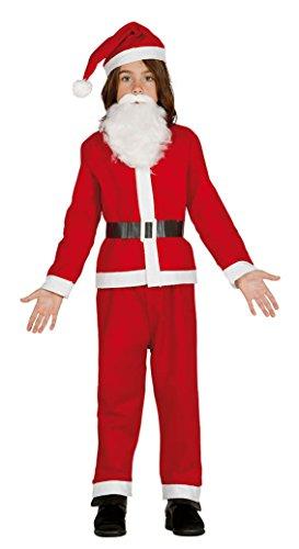 Guirca Costume Babbo Natale Bambini, colore: rosso 7-9 años rosso