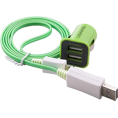 C.D.R. LED-Kabel Highspeed Flachladekabel,- Datenkabel mit Dual Kfz für Sony