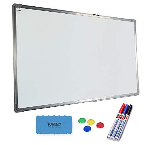 Yorbay Whiteboard - Magnetwand mit Alurahmen,magnetisch Memotafel (50 x 70 cm)