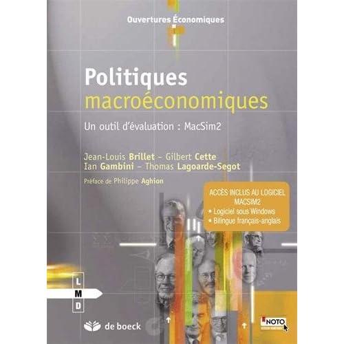 Politiques macroéconomiques, un outil d'évaluation : MacSim2