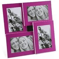 Versa 19000154 Portafotos 4 Ventanas Morado, 30,7x2,7x30,7cm, Aluminio