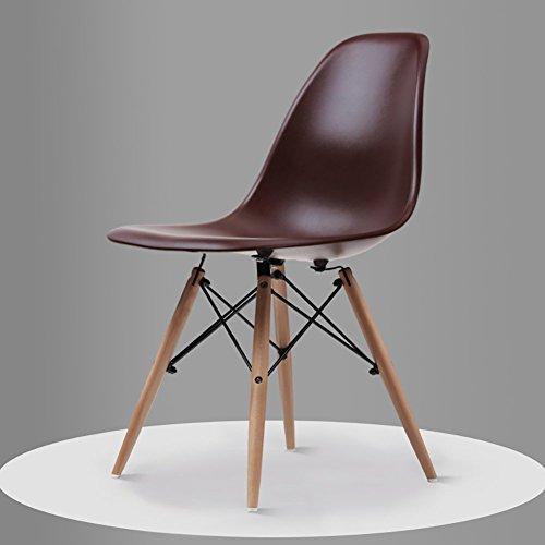 T-Z Family Utility Chair Moderner Minimalistischer Sessel, Wohnzimmer, Arbeitszimmer, Esszimmer, Bequemer Rücksitz, Braun