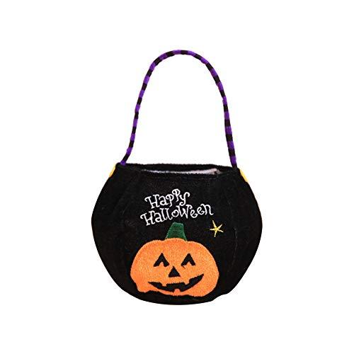 Nikgic Halloween Süßigkeiten Tasche Halter Trick oder Leckerei Kürbis Vampir Katze Hexe 1 Stück ()