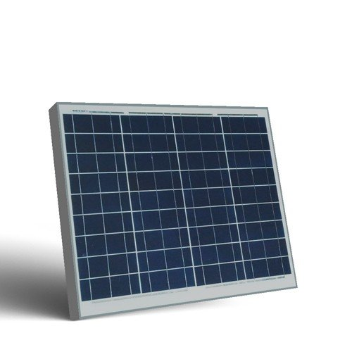 Placa Solar Fotovoltaico 50W 12V Policristalino Implant Camper Barco Baita