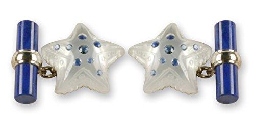 Polsini Stella Marina in madreperla e cristallo con zaffiri blu - oro bianco -
