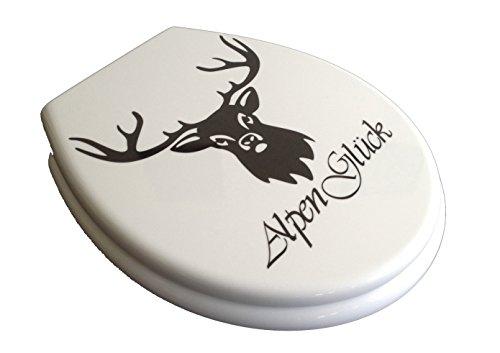 ADOB Duroplast WC Sitz Klobrille Modell Alpenglück mit Absenkautomatik zur Reinigung abnehmbar, 59889