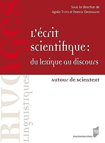 L'écrit scientifique, du lexique au discours