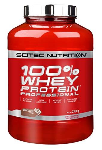 Scitec nutrition 100% whey protein professional 2350g cioccolata