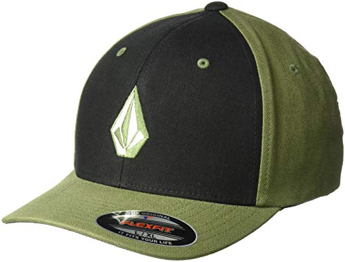 Volcom Herren Full Stone Hthr Xfit Cap-Flexfit, Army, L/XL Volcom Volcom Full Stone