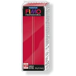 Staedtler 8001-29. Pasta para modelar Fimo Professional, color carmín. Caja con una pastilla de 350 g.