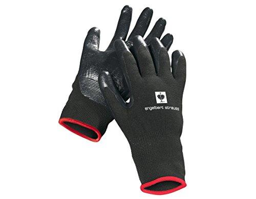 Engelbert Strauss Nitril-Handschuhe Flexible, Farbe:schwarz, Größe:M