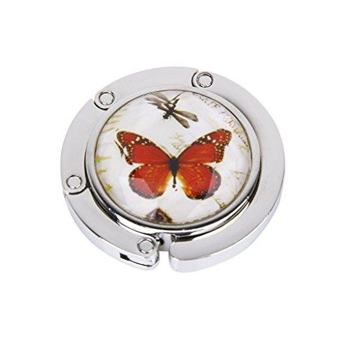 Appendi borsa porta-Gancio per borsetta pieghevole, motivo: farfalla #3