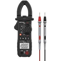 Pince Amperemetrique Meterk® 6000 Compteurs sans Contact Multimètre Plage Automatique AC/DC Tension AC Courant Résistance Capacité Fréquence Diode Hz Test (6000 Compteurs sans Contact Multimètre MK05)