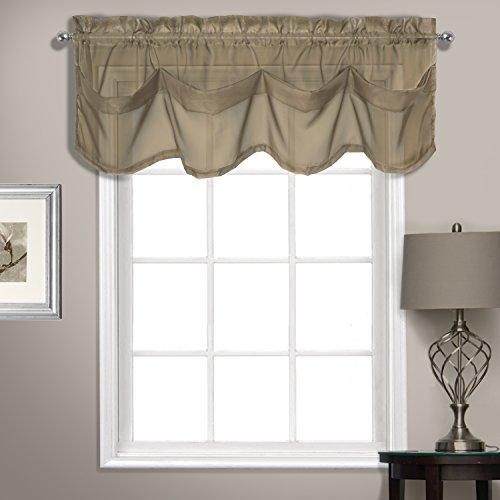 United Vorhang Sheer Voile Tuck Querbehang, Pilz, 142,2x 35,6cm - Fenster Behandlungen Topper