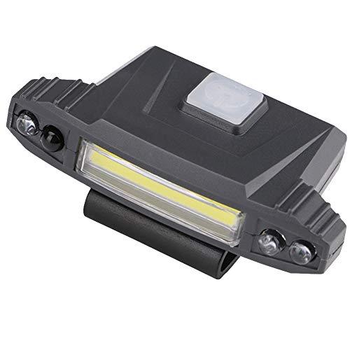 Scheinwerfer wiederaufladbare Schutzhelm Licht einstellbarer Winkel für Camping & Wandern ABS COB LED 3W für Camping & Wandern