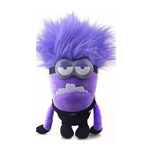 """Peluche Minion cattivo dal film """"Cattivissimo me 2"""", colore: viola, altezza: 35 cm circa, idea regalo"""