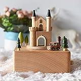 RecontraMago Scatole musicali per bambini - Motivi con movimento in legno - per bambini e bambine donna Ballerina Natale Vint
