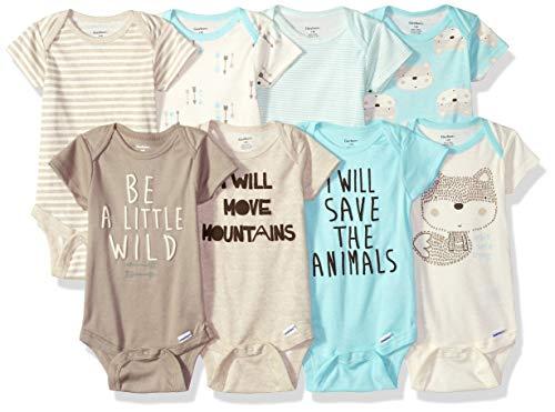 Gerber Baby Boys' 8-Pack Short-Sleeve Onesies Bodysuit -