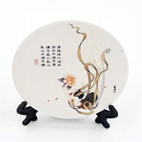 ZCHPDD Weichholz Keramik Tischset Saugfähig Dekorative Utility Teppich Muster 3 10,2 * 0,6 cm * 6 Stücke -