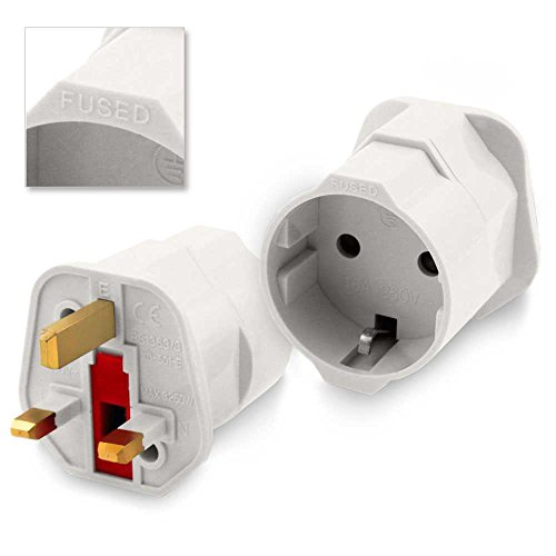 Foto de Adaptador Red Enchufe Europeo UE Schuko a UK Ingles Reino Unido Universal Plug