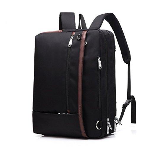 Cabrio-nylon-aktentasche (C-Xka Multifunktions-Travel Rucksack Cabrio Rucksack Schultertasche Messenger Bag Laptop-Tasche Business Aktentasche Freizeit Handtasche (Farbe : SCHWARZ))
